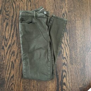 AE Hi-Rise Jegging Next Level Stretch Army Green
